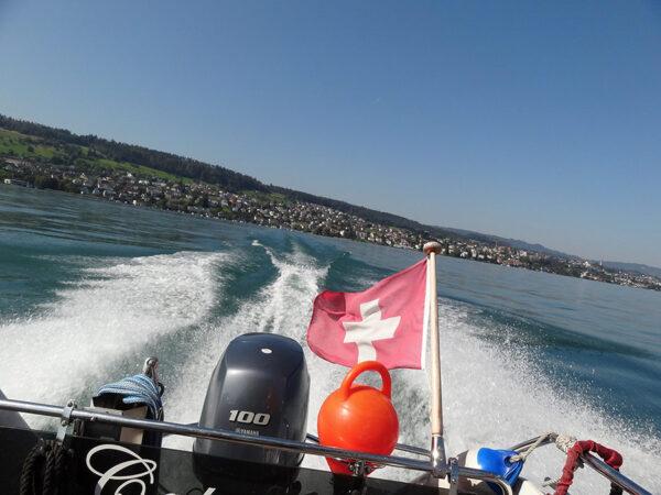 Ausblick Heck Schulungsboot
