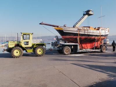 Kurzstreckentransport mit Traktor
